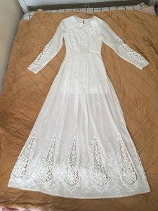 BHLDN White Cotton Mckenna Day Modest Wedding Dress Size 0 (XS)