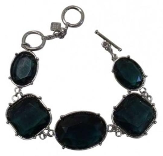 Banana Republic Banana Republic Green Teal Gem Silver Bracelet