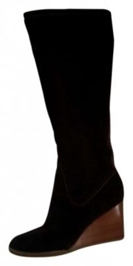 Ann Taylor LOFT Wedge Knee High Chocolate Brown Boots