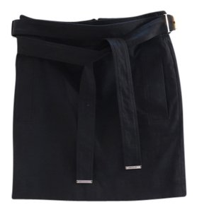 Gucci Bamboo Belted Mini Skirt Black