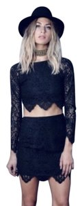 For Love & Lemons Top Black