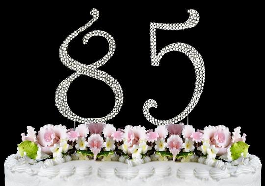 Silver Rhinestone Cake Topper 85 Other