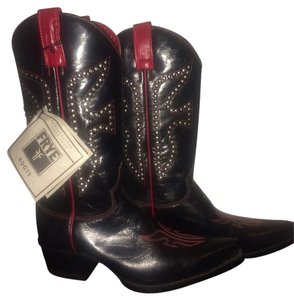 Frye Black/Red Boots