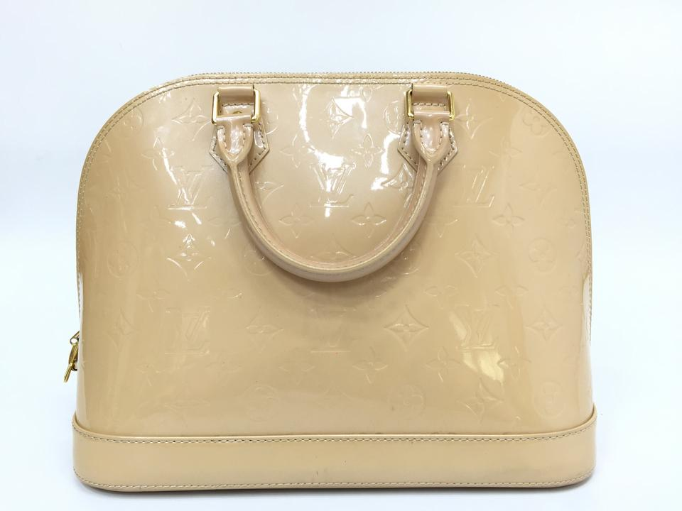 846dbf7b0589 Louis Vuitton Alma Monogram Vernis Pm Nude Patent Leather Tote - Tradesy