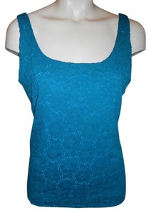 White House | Black Market Lace Stretch Night Out Top blue green