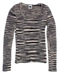 Missoni Black Cream Peach Knit Sweater