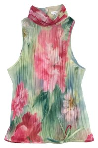Escada Multi Color Floral Print Top