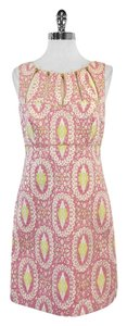 MILLY short dress Pink Metallic Gold Print on Tradesy