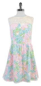 Lilly Pulitzer short dress Multi Color Lace Overlay on Tradesy