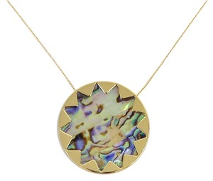 House of Harlow 1960 Abalone Sunburst Pendant Necklace