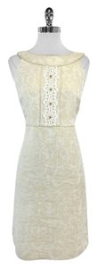 Lilly Pulitzer short dress Gold Cream Metallic Brocade on Tradesy