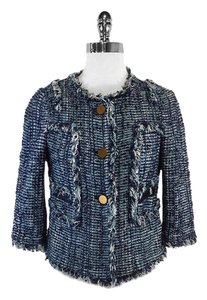 Tory Burch Blue Tweed Jacket