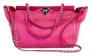 Valentino Hot Pink Medium Rockstud Tote