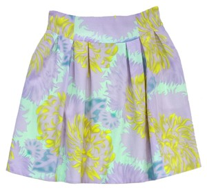 Nanette Lepore Lilac Mint Yellow Print Skirt