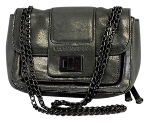 BCBGMAXAZRIA Grey Metallic Sheen Small Cross Body Bag