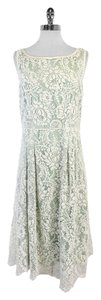 Elie Tahari Mint Green White Lace Sleeveless Dress