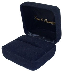 Other Black Velvet Ring Gift Box with Molded Foam Insert - Town & Country.