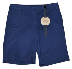 Charter Club Casual Resort Vacation Classic Bermuda Shorts Navy Blue