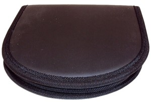 Nylon Zippered CD/DVD Wallet/Storage Case - Holds 12 Discs.