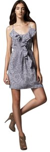 Rebecca Taylor short dress Gray Leopard Summer Silk on Tradesy