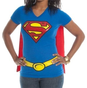 DC Comics Halloween Costume Superman Supergirl Super Hero Cosplay T Shirt