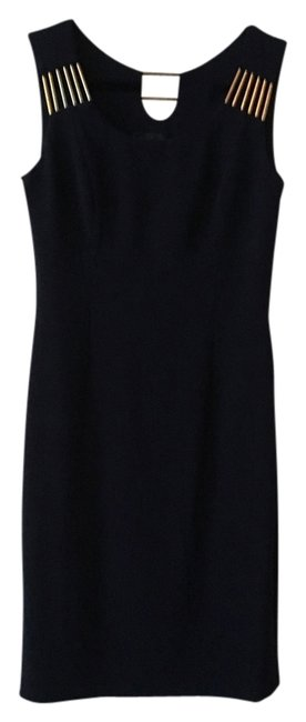 Item - Navy Blue Knee Length Night Out Dress Size 6 (S)
