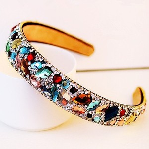 Fancy Multi-color Crystal Headband
