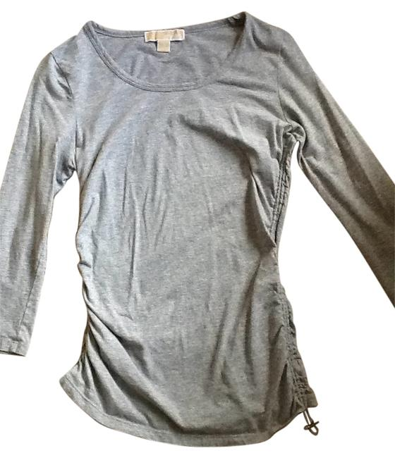 Preload https://item5.tradesy.com/images/michael-michael-kors-grey-ruched-tee-shirt-size-4-s-144069-0-0.jpg?width=400&height=650