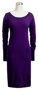 J.Crew short dress Purple J. Crew Sweater on Tradesy