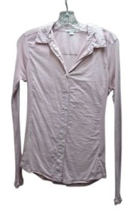 James Perse Cotton Shirt Designer Standard Classic Collar Pocket Usa Long Sleeve Light T-shirt Casual Work Lightweight Summer Button Down Shirt Pink
