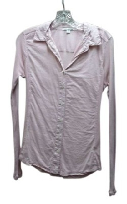Preload https://item1.tradesy.com/images/james-perse-pink-long-sleeve-button-front-cotton-collared-shirt-button-down-top-size-2-xs-144070-0-0.jpg?width=400&height=650