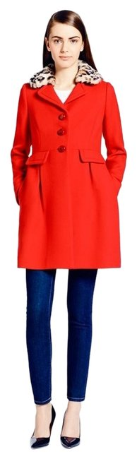 Preload https://img-static.tradesy.com/item/14407096/kate-spade-red-faux-fur-pea-coat-size-6-s-0-1-650-650.jpg