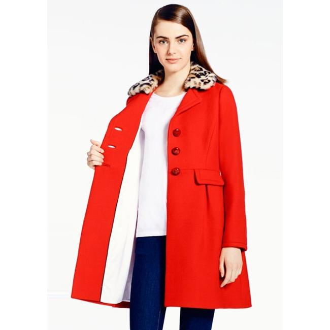 Kate Spade Faux Fur Dress Wool Pea Coat