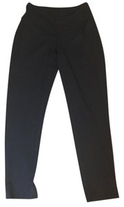J. Jill Comfortable Stretchy Rayon Slim Navy Straight Pants Blue