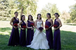 David's Bridal Plum F14010 Dress