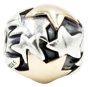 PANDORA Golden Star Charm in 925 Sterling Silver and 14k Yellow Gold Pandora Style No. 790563