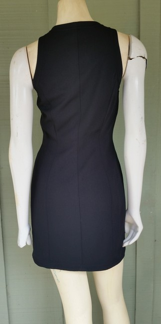 Carmen Marc Valvo short dress Black Mini Zip Front Vintage on Tradesy