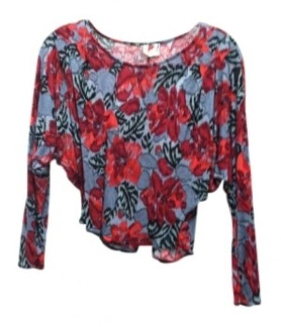 Preload https://img-static.tradesy.com/item/144079/free-people-redgrey-floral-print-blouse-size-2-xs-0-0-650-650.jpg