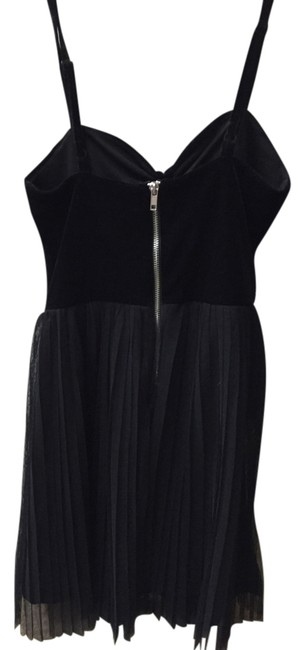 H&M Sweetheart Velvet Ruffle Spaghetti Dress
