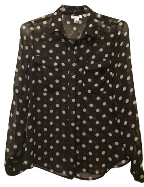 Old Navy Top Black Polka Dots