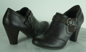 Nicole Ankle Studded Brown Boots