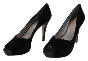 Nine West Black Suede Platforms