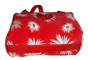 Juicy Couture New Velour Patent Satchel in Red Print