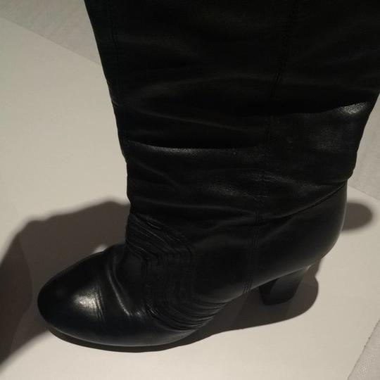 Miss Sixty Blk Leather Boots
