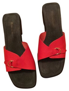 Etienne Aigner Red Sandals