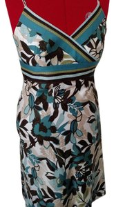 Ann Taylor short dress Turquoise, brown, green Batik on Tradesy