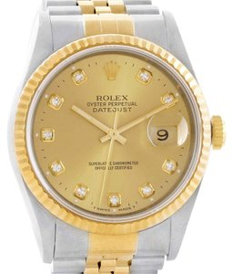 Rolex Rolex Datejust Steel 18K Yellow Gold Automatic Watch 16233