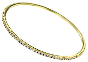Tiffany & Co. Tiffany & Co. Metro Diamond Bangle Bracelet in 18k Yellow Gold Eternity Style