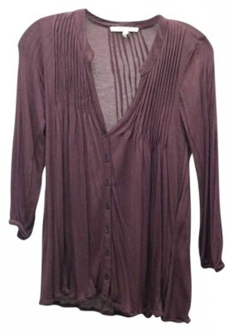 Preload https://item4.tradesy.com/images/joie-plum-soft-jersey-blouse-button-down-top-size-2-xs-144093-0-0.jpg?width=400&height=650