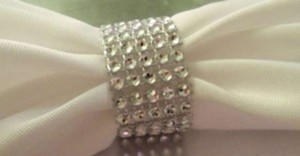 Silver 200 Rhinestone Bling Napkin Rings Or Chair Sash Rows Ceremony Decoration